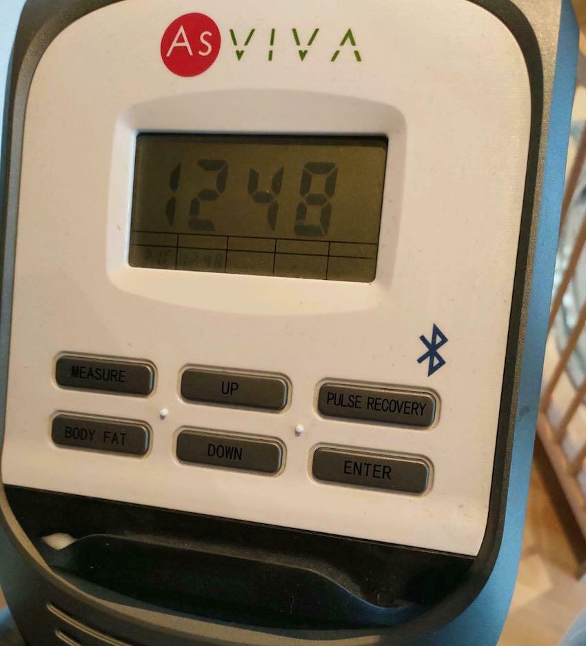 Das Bedienpanel des AsVIVA C16 2in1 Cardio Elliptical Crosstrainers ist sehr simpel gehalten.