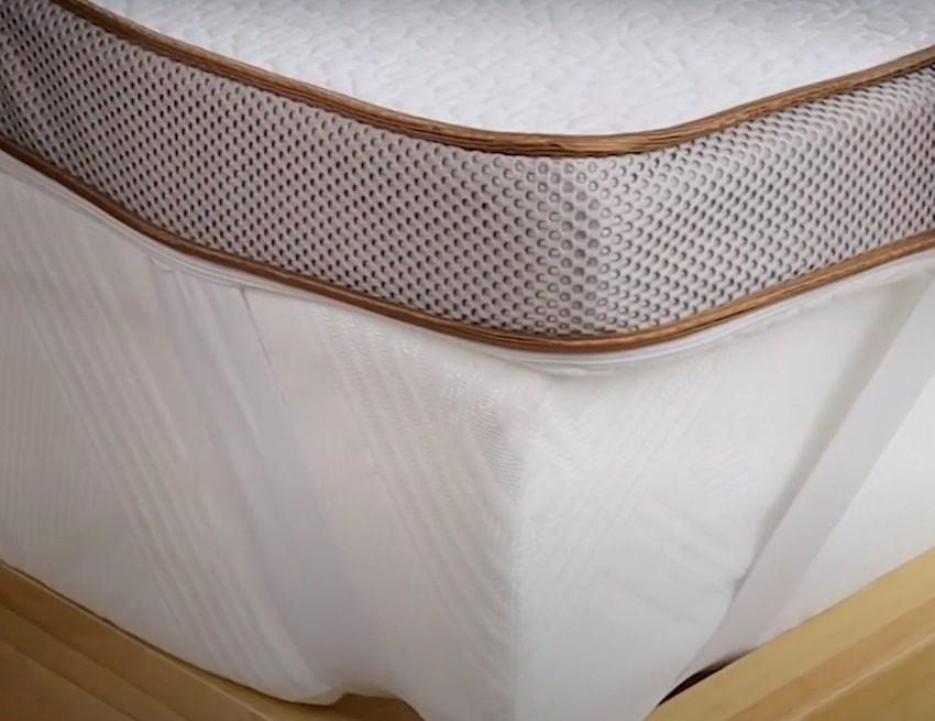 Dank der vier Gummibänder und der rutschfesten Unterseite sitzt der Bedstory-Topper besonders fest.