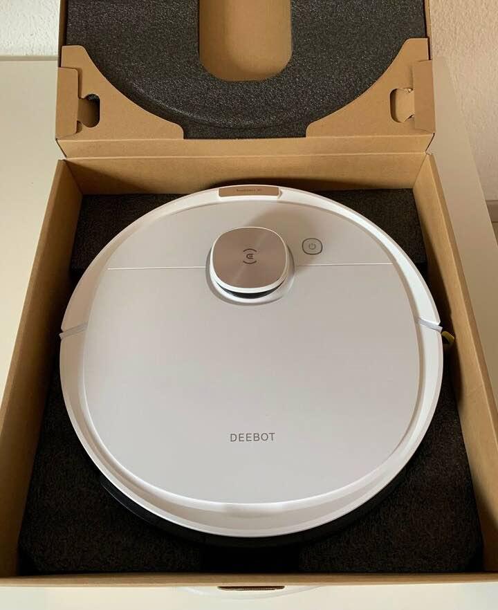 Der Ecovacs Deebot Ozmo T8+ Saug- und Wischroboter wird gleich getestet.