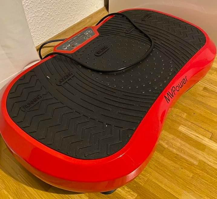 Die MVPower Fitness Ultraflache Vibrationsplatte nach mehrmaliger Benutzung.