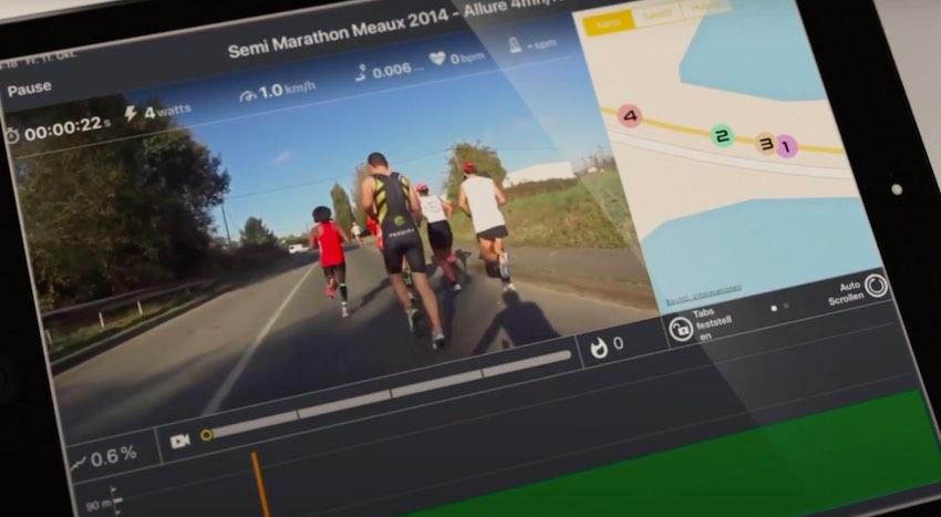 Das Bedienpanel des Sportstech F10 Laufbands kann mittels Tablet und Kinomap-App zum modernen Trainingscomputer mit motivierender Multiplayer-Option umgerüstet werden.