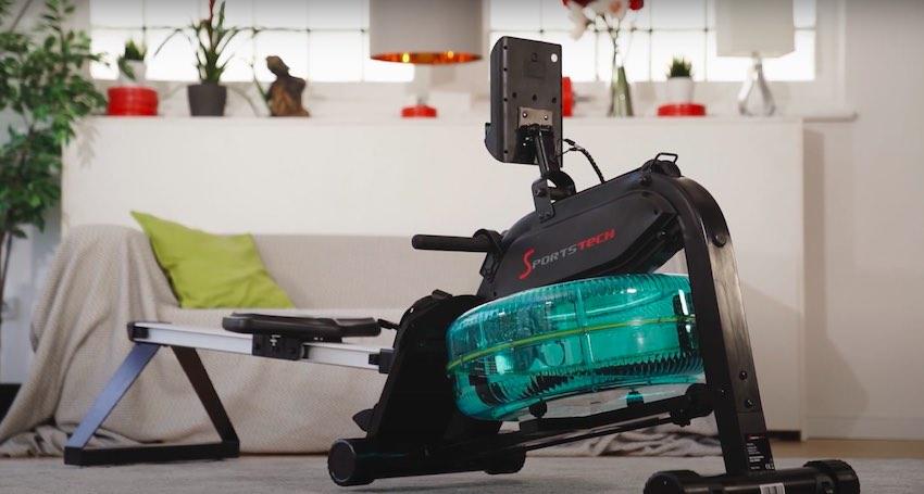 Sportstech WRX400 Wasser-Rudergerät nach dem Aufbau.