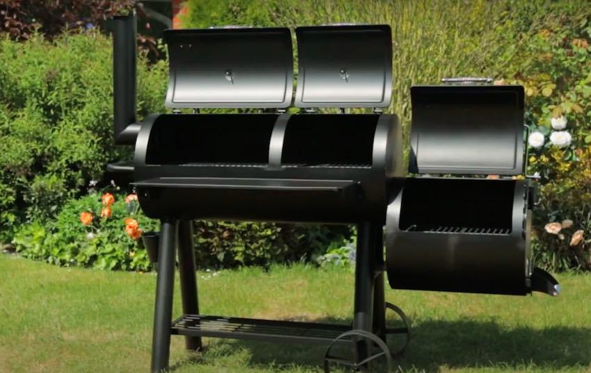 Der Tepro Indianapolis Massiv BBQ Smoker bereit zum Test.