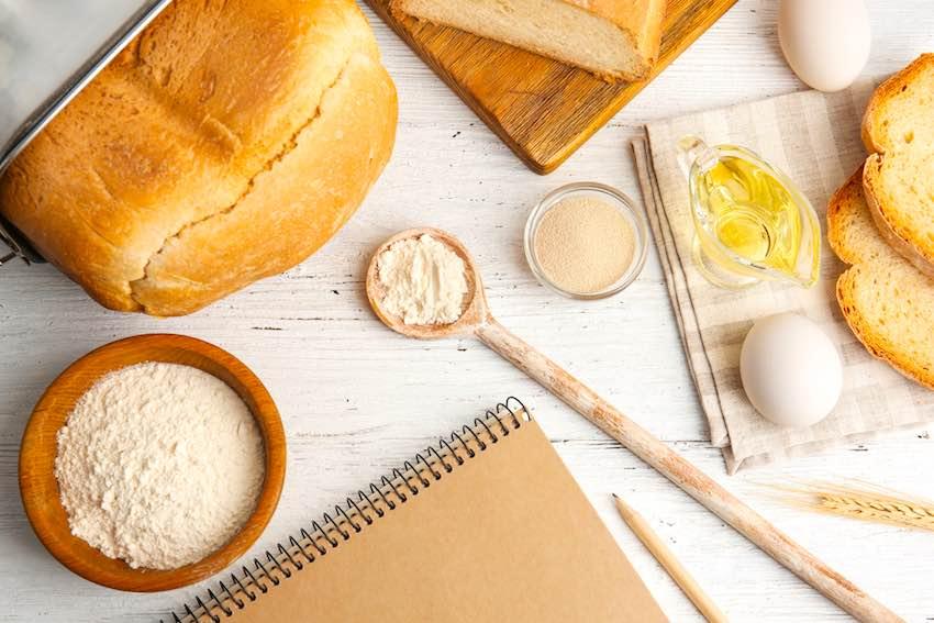 Vorbereitungen für den Brotbackautomat Test und Vergleich.