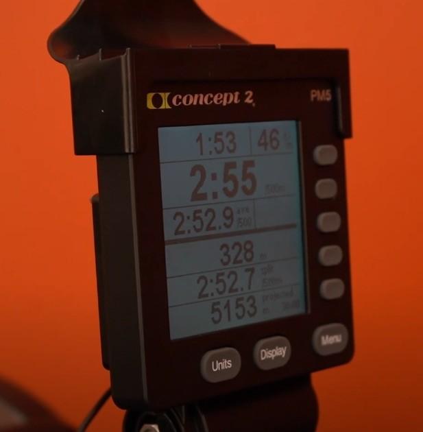 Der Trainingscomputer des Concept2 Rudergeräts trägt den Namen PM5.