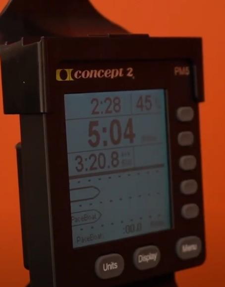 Der Trainingscomputer im Paceboat-Modus.