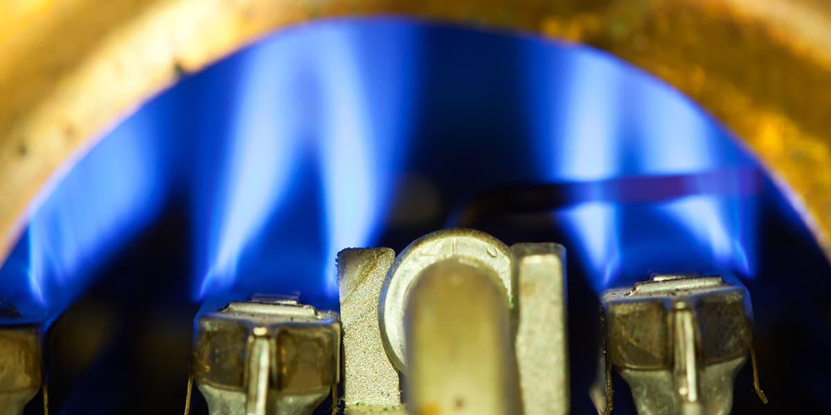 Ein Gas Durchlauferhitzer von Innen