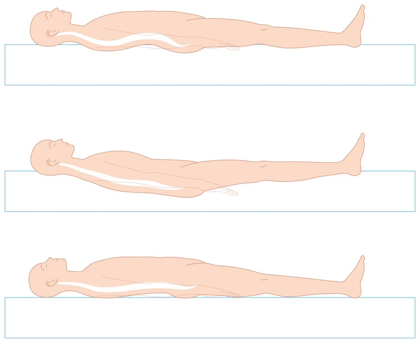 Schwere Menschen sollten harte Topper mit hohem Raumgewicht wählen, damit die Wirbelsäule optimal gestützt wird.