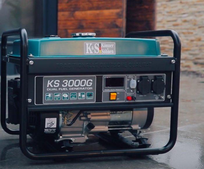 Der Könner & Söhnen KS 3000G Hybrid wartet auf seinen ersten Einsatz.