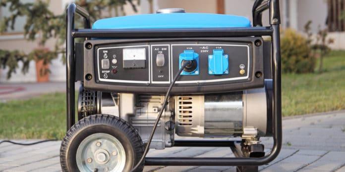 Ein Notstromaggregat im Einsatz