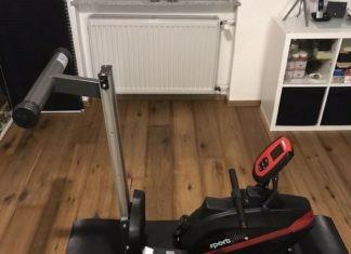 Das SportsPlus SP-MR-008-B Rudergerät nach dem Auspacken.