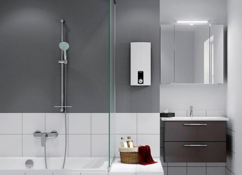 Eine Augenweide: Der Stiebel Eltron DHB 21 ST Durchlauferhitzer macht in jedem Badezimmer eine gute Figur.