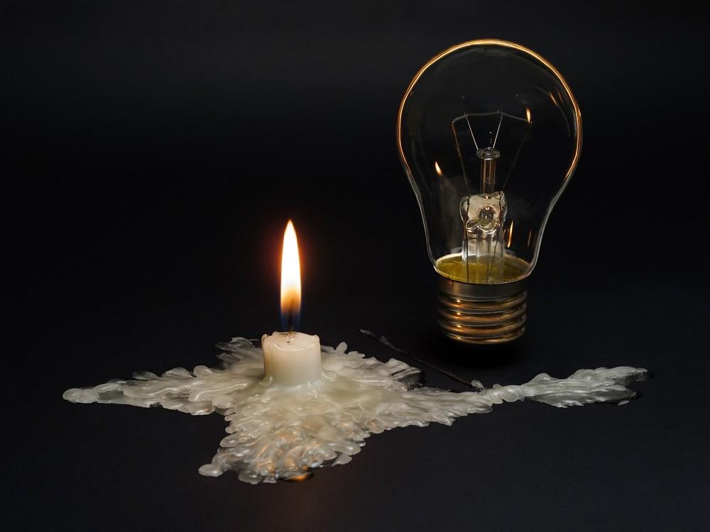 Stromausfall und Kerze