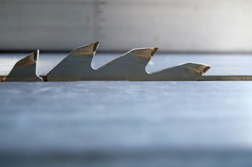 Die wichtigste Zutat einer Tischkreissäge: Das Sägeblatt.